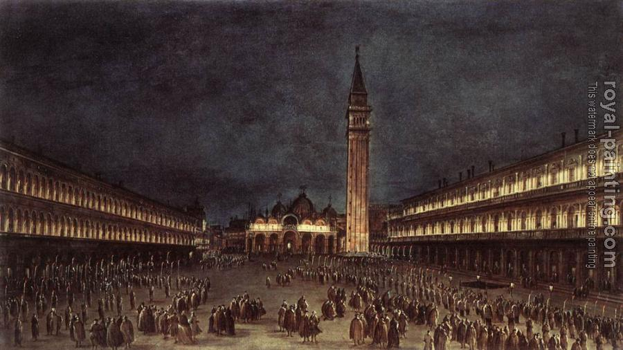 Nighttime Procession in Piazza San Marco