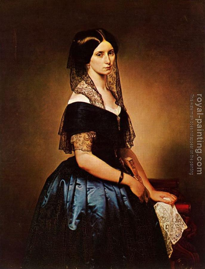 Francesco Hayez : Portrait of Antonietta Tarsis Basilico