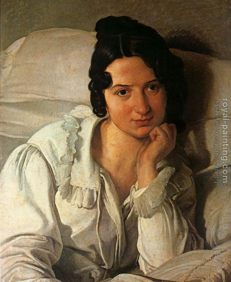 Francesco Hayez : The Patient, portrait of Carolina Zucchi