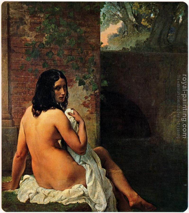 Francesco Hayez : Bather viewed from behind