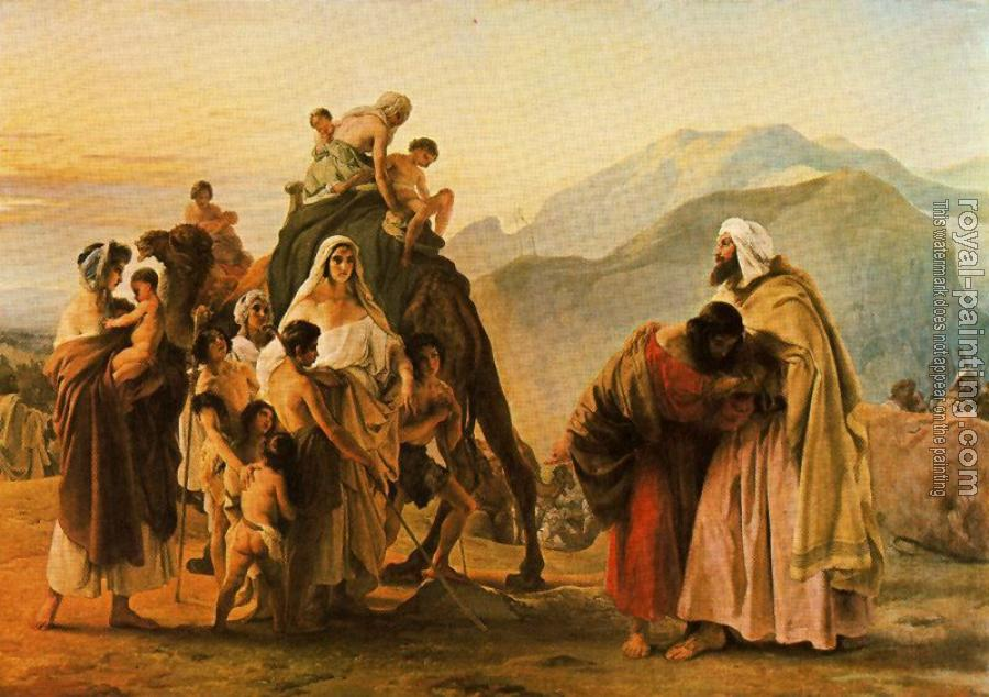 Francesco Hayez : Meeting of Jacob and Esau