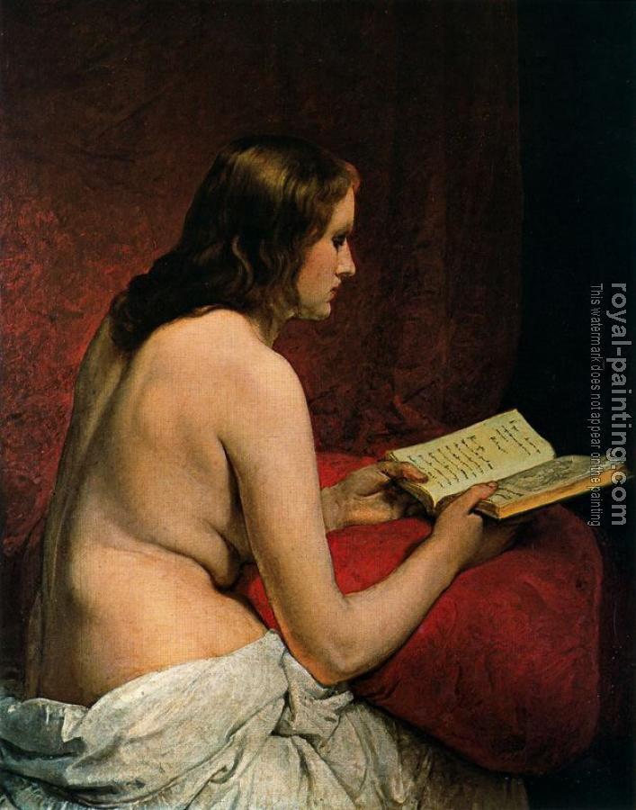 Francesco Hayez : Odalisque with Book