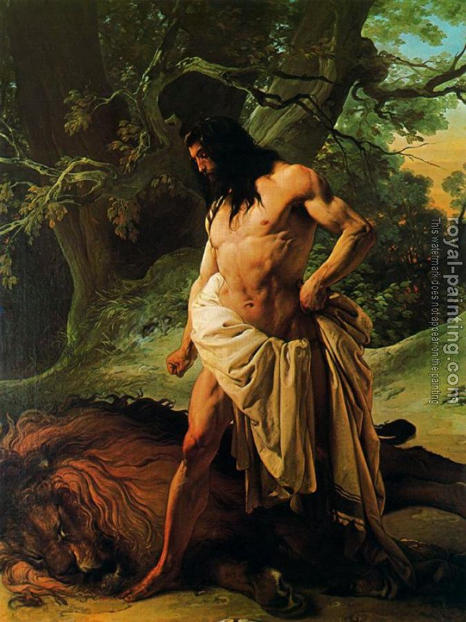 Francesco Hayez : Samson and the Lion