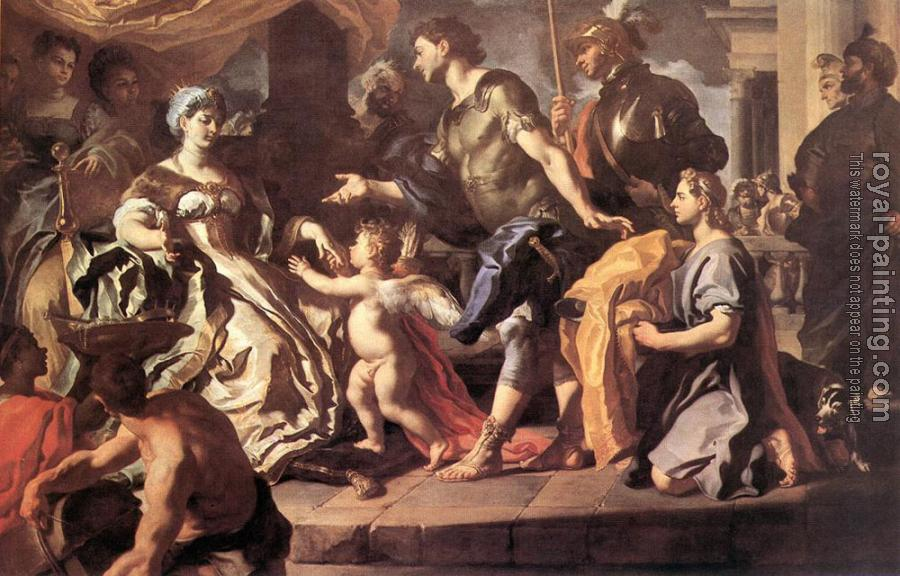 Francesco Solimena : Dido Receiving Aeneas And Cupid Disguised As Ascanius