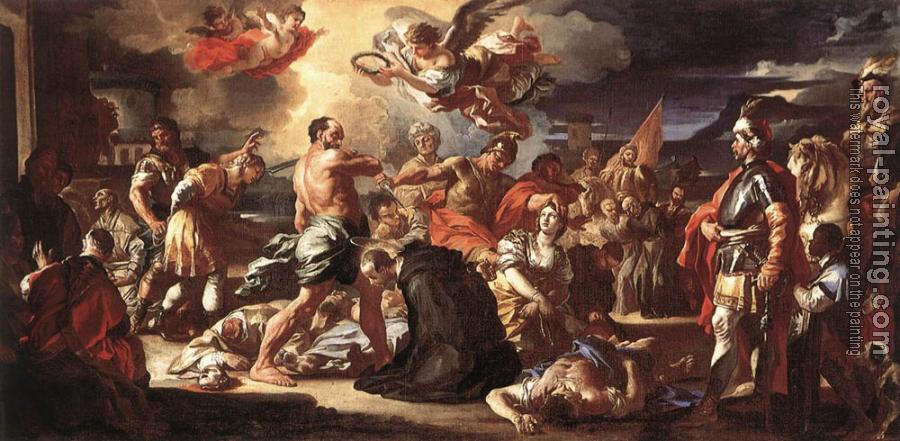 Francesco Solimena : The Martyrdom Of Sts Placidus And Flavia
