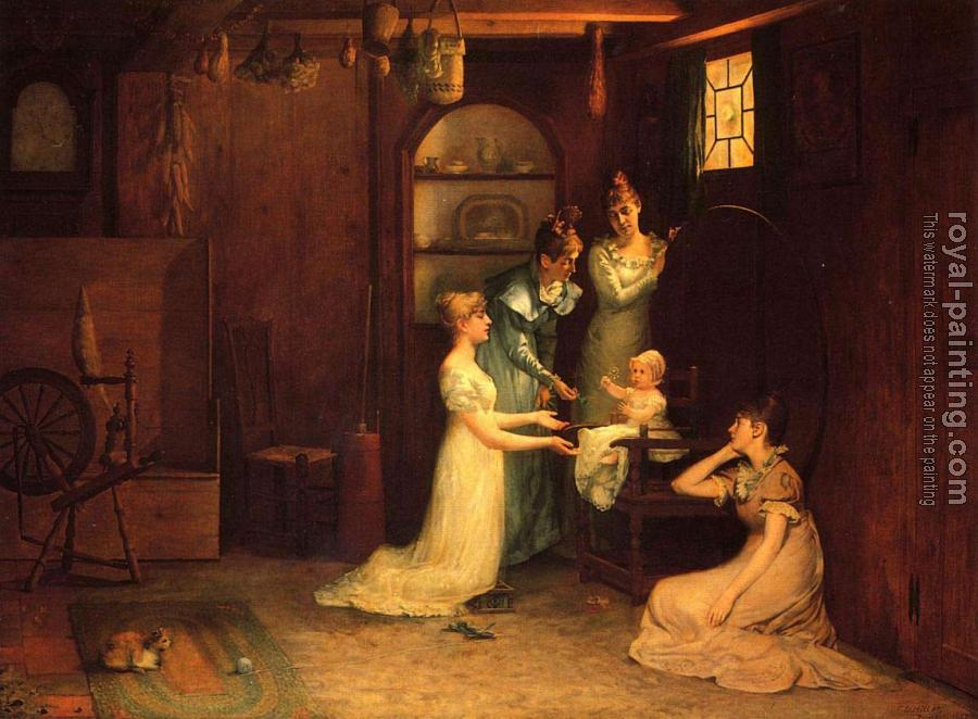 Francis Davis Millet : Playing with Baby