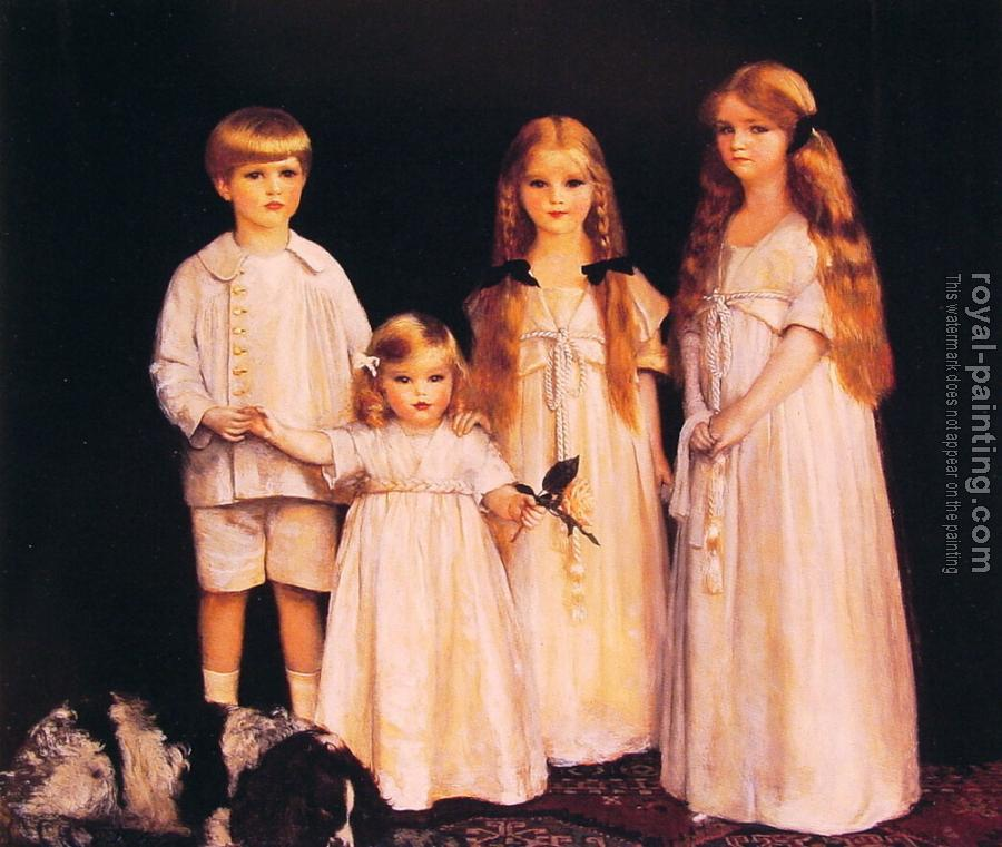 Frank Cadogan Cowper : Portrait of Fraunces Beatrice James and Synfye Children of James Christie