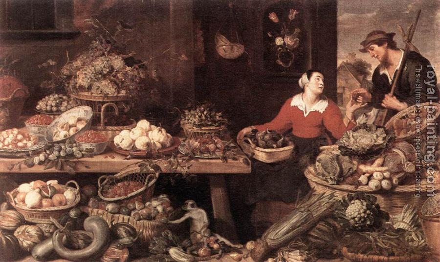Frans Snyders : Fruit And Vegetable Stall