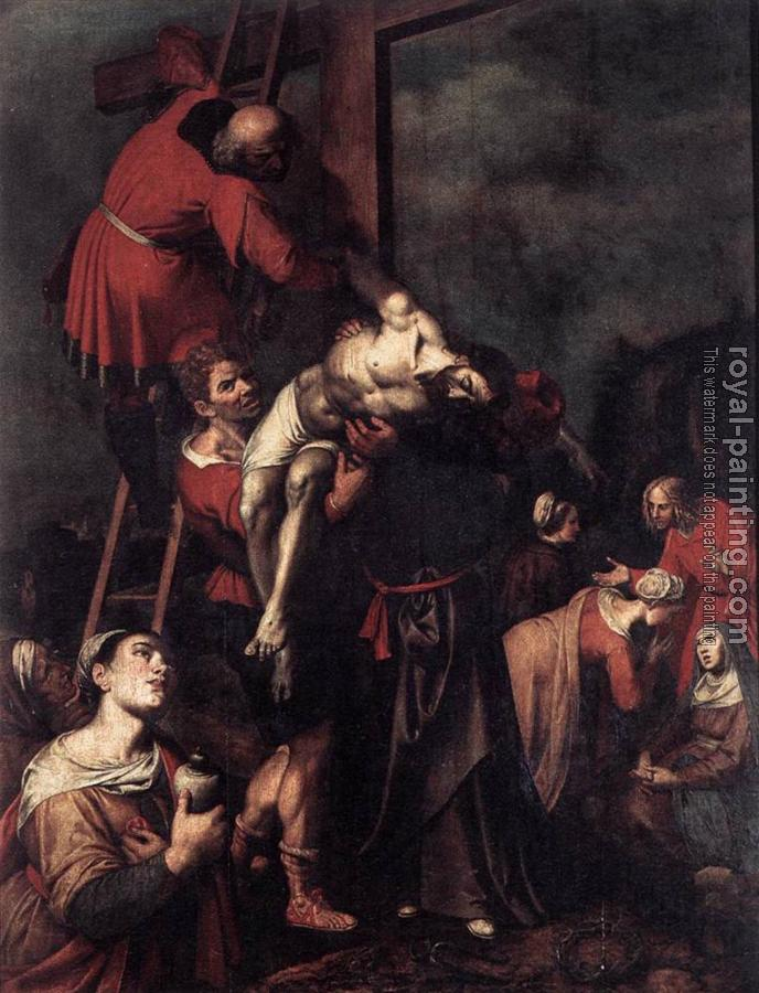 Frans The Younger Francken : Ambrosius Descent From The Cross