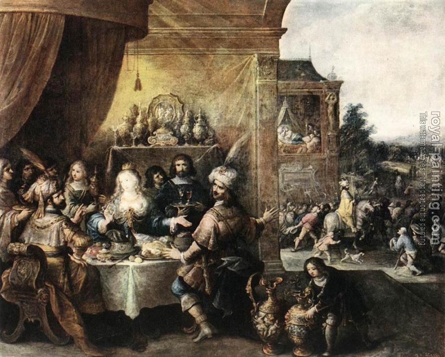 Frans The Younger Francken : Feast Of Esther