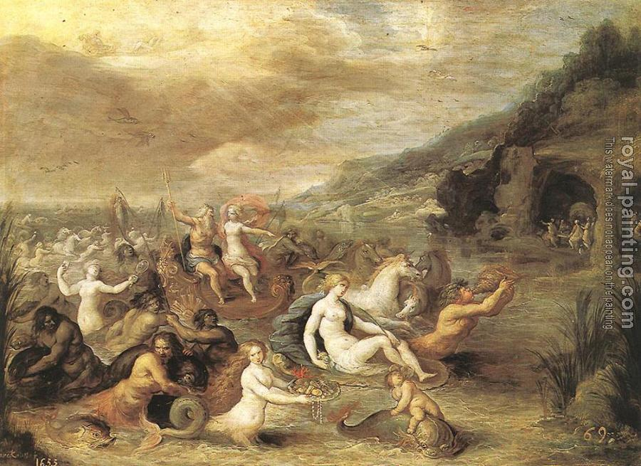 Frans The Younger Francken : Triumph Of Amphrite