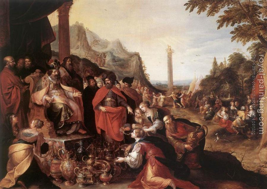Frans The Younger Francken : Worship Of The Golden Calf