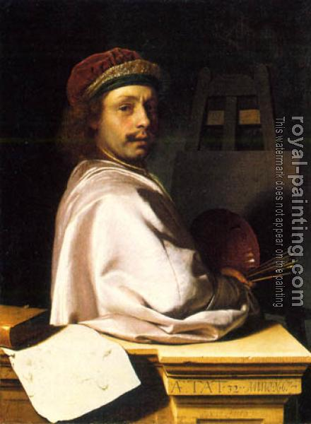 Frans Van Mieris The Elder : self portrait