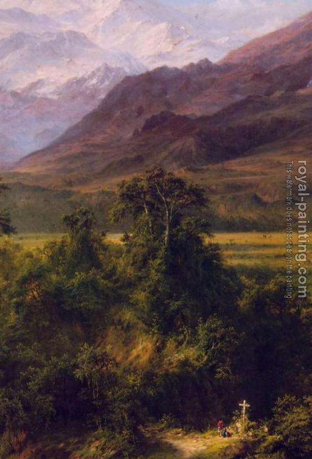 Frederic Edwin Church : Heart of the Andes, detail