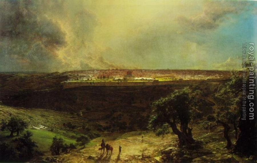Frederic Edwin Church : Jerusalem from the Mount of Olives