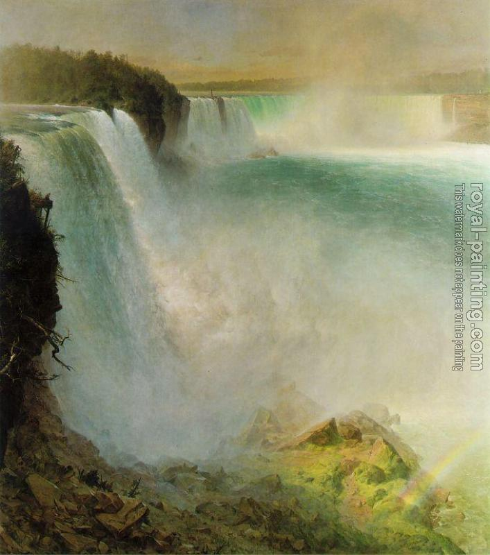 Frederic Edwin Church : Niagara Falls, from the American Side