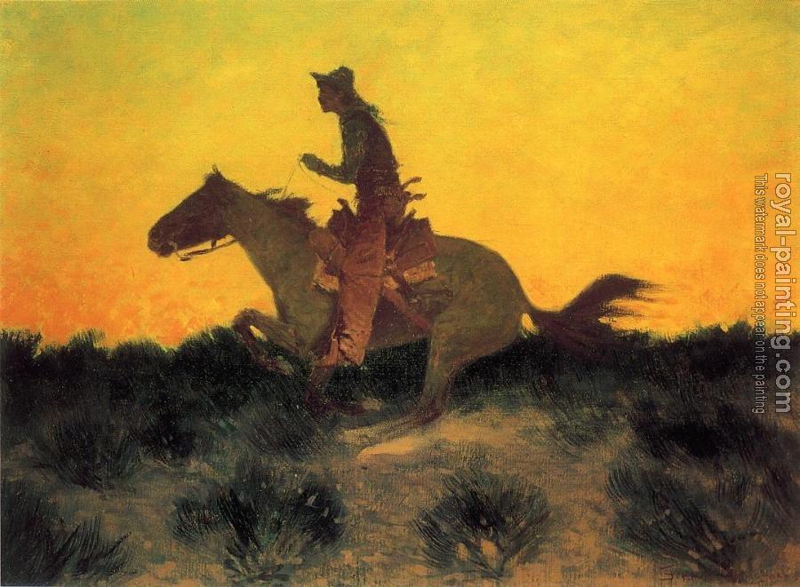 Frederic Remington : Against the Sunset
