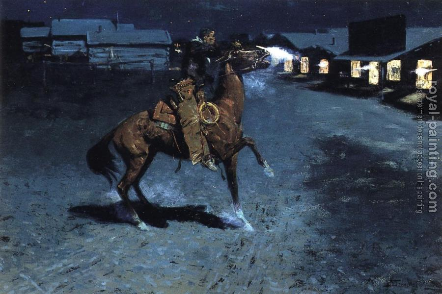 Frederic Remington : An Arguement with the Town Marshall