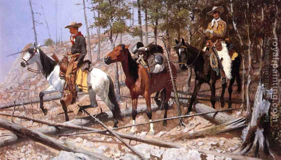 Frederic Remington : Prospecting for Cattle Range