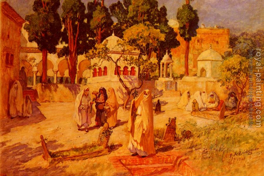 Frederick Arthur Bridgman : Arab Women at the Town Wall