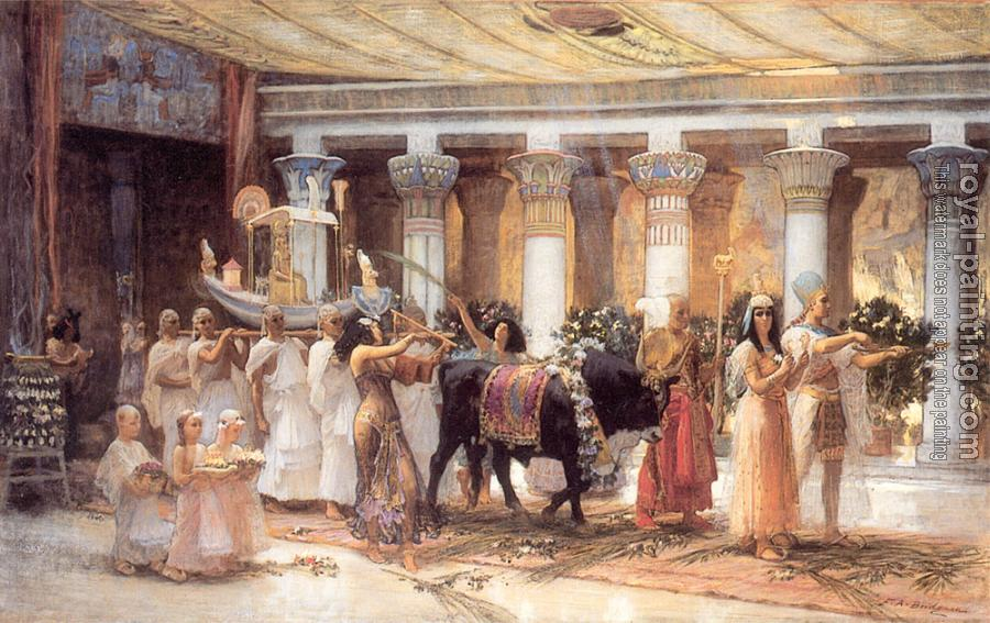 Frederick Arthur Bridgman : The Procession of the Sacred Bull Anubis