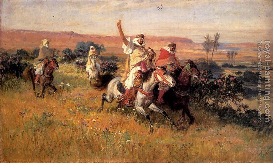Frederick Arthur Bridgman : The Falcon Hunt