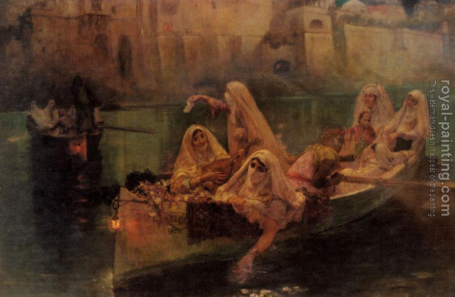 Frederick Arthur Bridgman : The Harem Boats