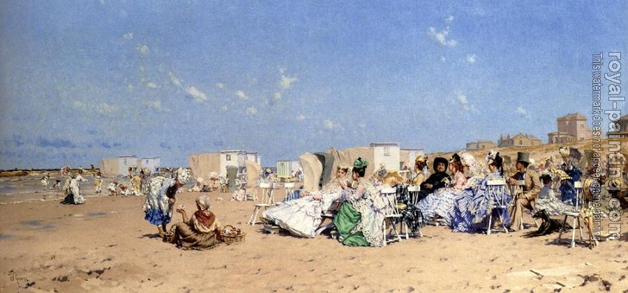 Frederick Hendrik Kaemmerer : Beach At Scheveningen Holland