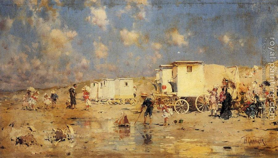 Frederick Hendrik Kaemmerer : The Beach At Scheveningen Holland
