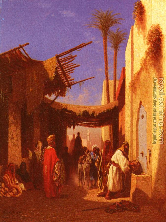 Charles Theodore Frere : Street In Damascus and Street In Cairo