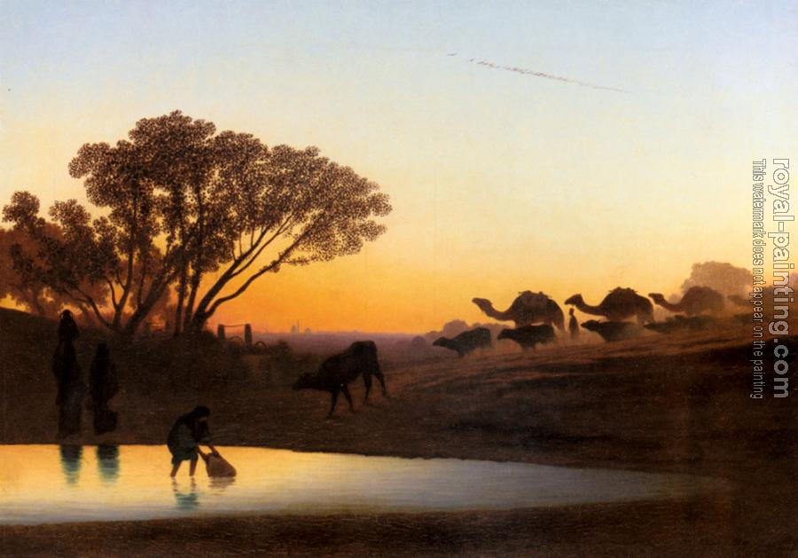 Charles Theodore Frere : Sunset On The Nile