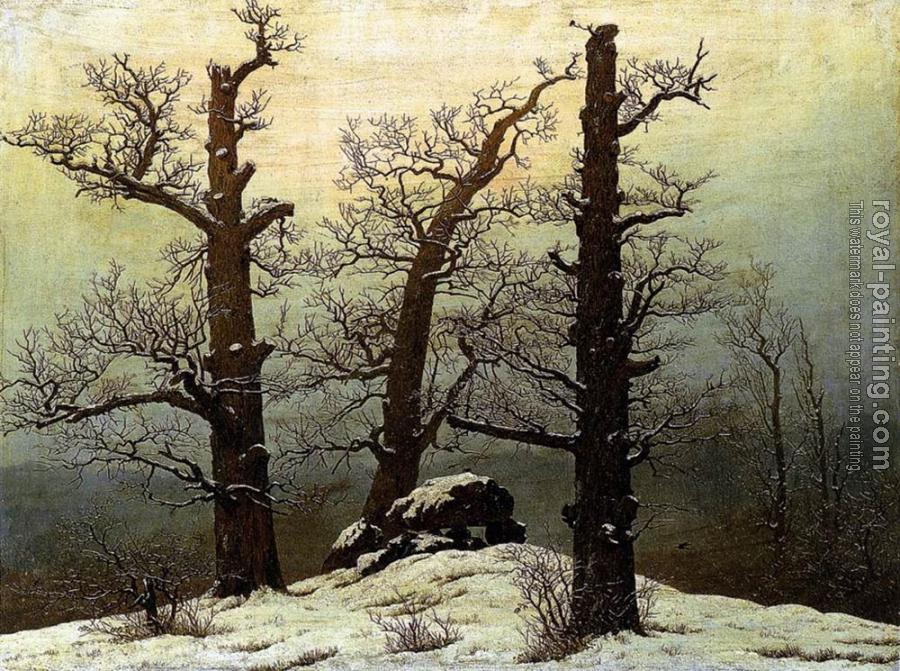 Caspar David Friedrich : Dolmen In The Snow
