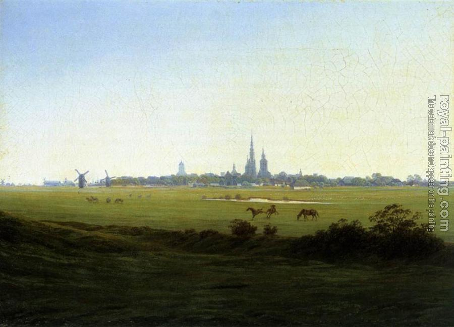 Caspar David Friedrich : Meadows Near Greifswald