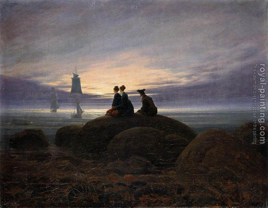 Caspar David Friedrich : Moonrise By The Sea