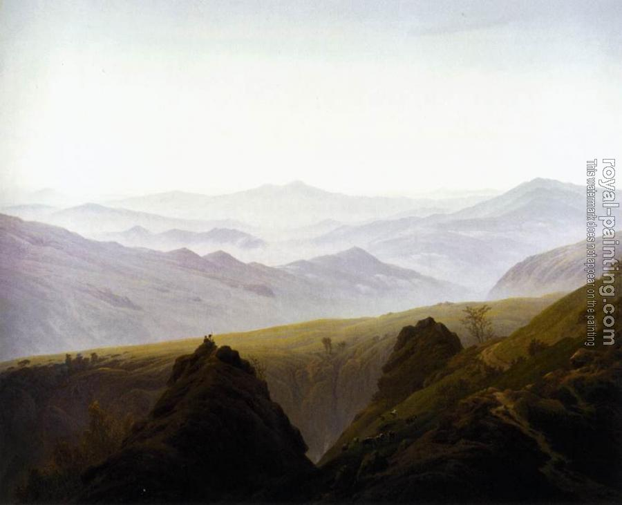 Caspar David Friedrich : Morning In The Mountains