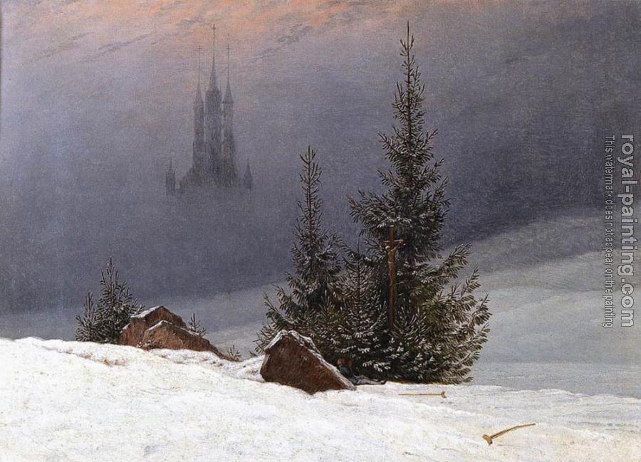 Caspar David Friedrich : Winter Landscape With Church