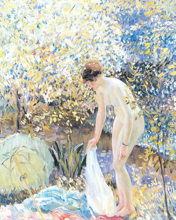 Frederick Carl Frieseke : Cherry Blossoms