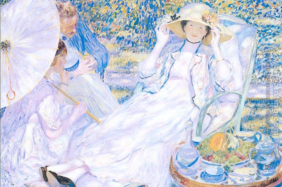 Frederick Carl Frieseke : The Hour of Tea