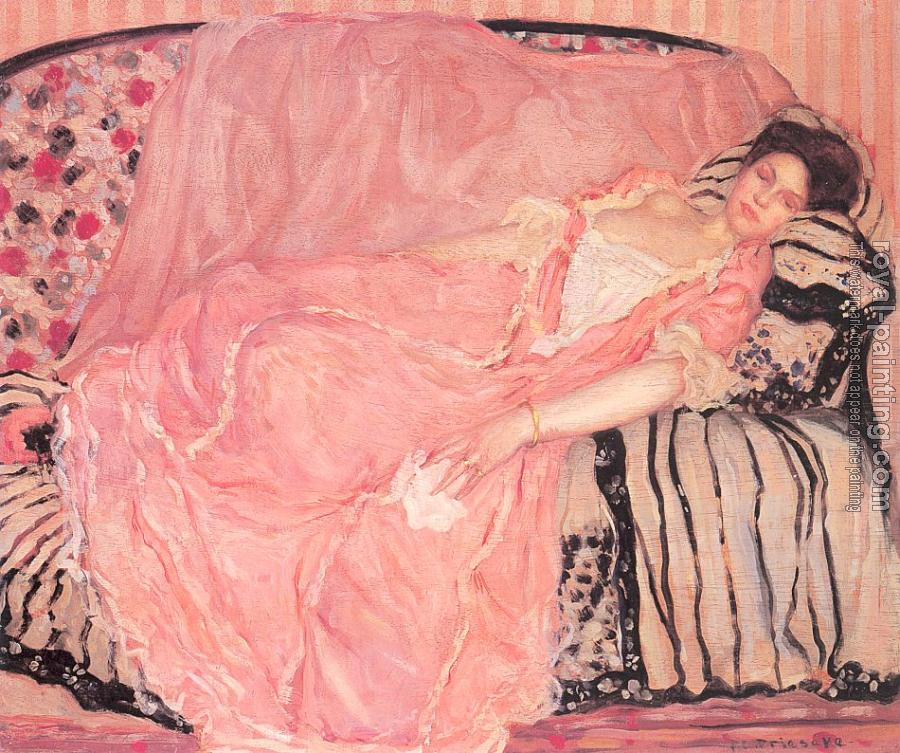 Frederick Carl Frieseke : Portrait of Madame Gely (On the Couch)