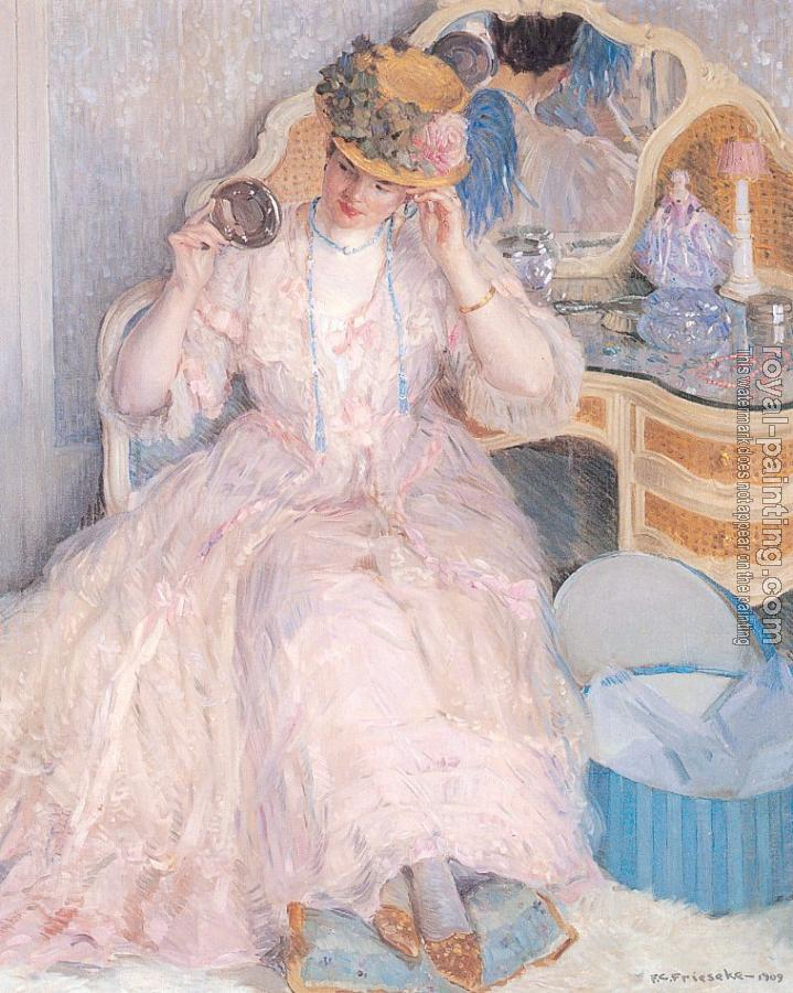 Frederick Carl Frieseke : Lady Trying On a Hat