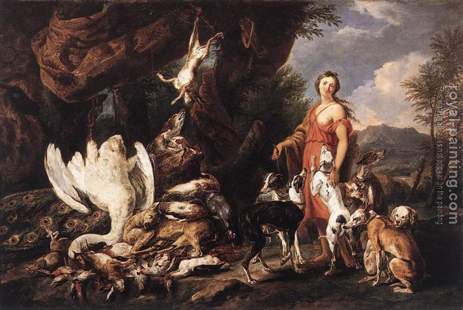Jan Fyt : Diana with Her Hunting Dogs beside Kill