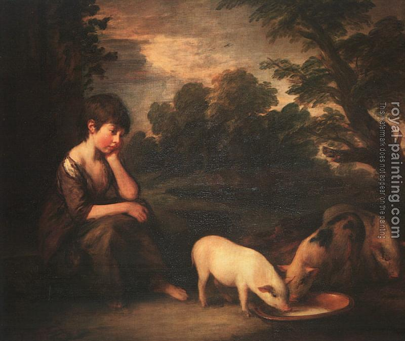 Thomas Gainsborough : Girl with Pigs