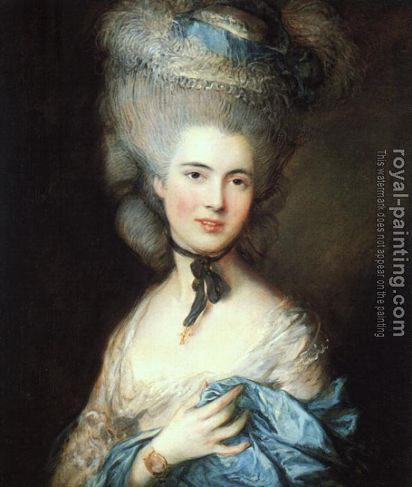 Thomas Gainsborough : Portrait of a Lady in Blue