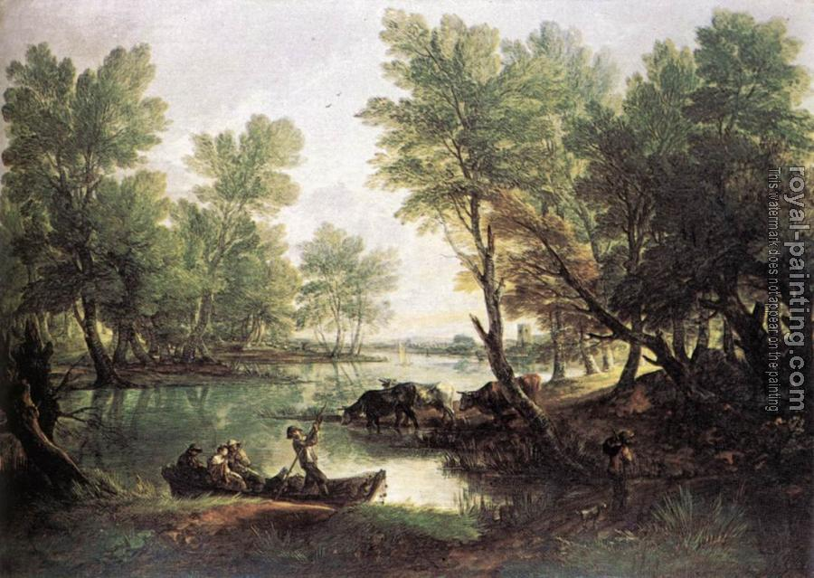 Thomas Gainsborough : River Landscape