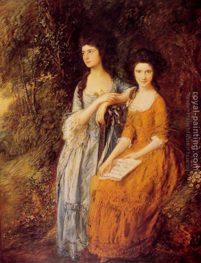 Thomas Gainsborough : The Linley Sisters