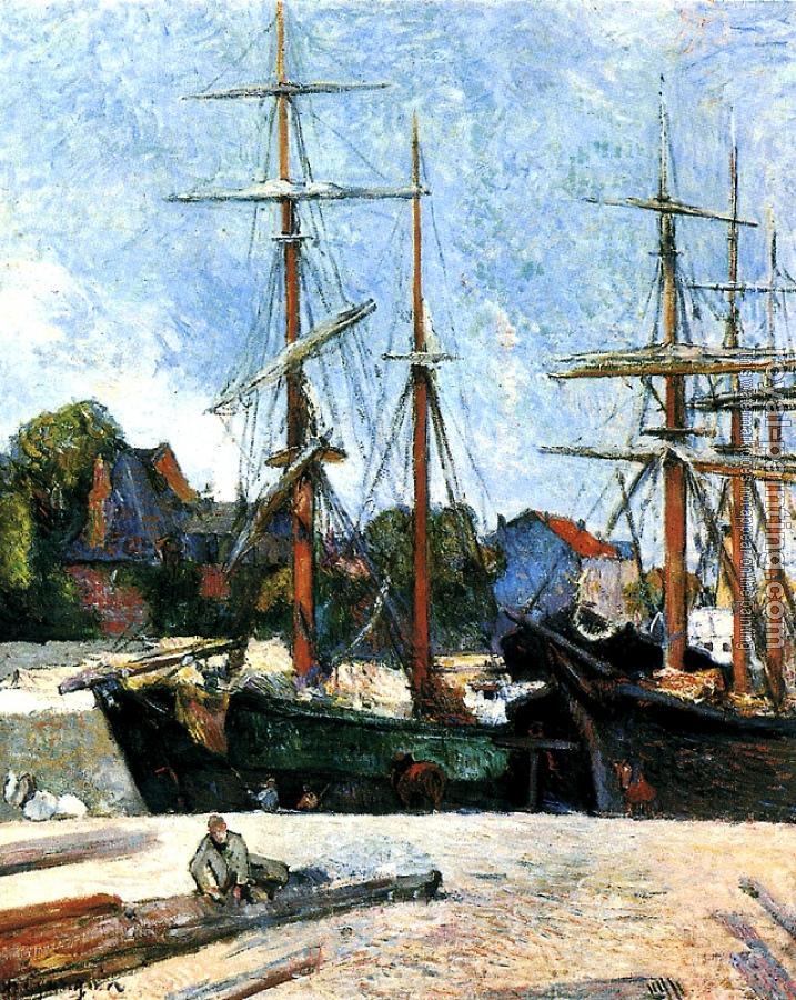 Paul Gauguin : Schooner and three masters
