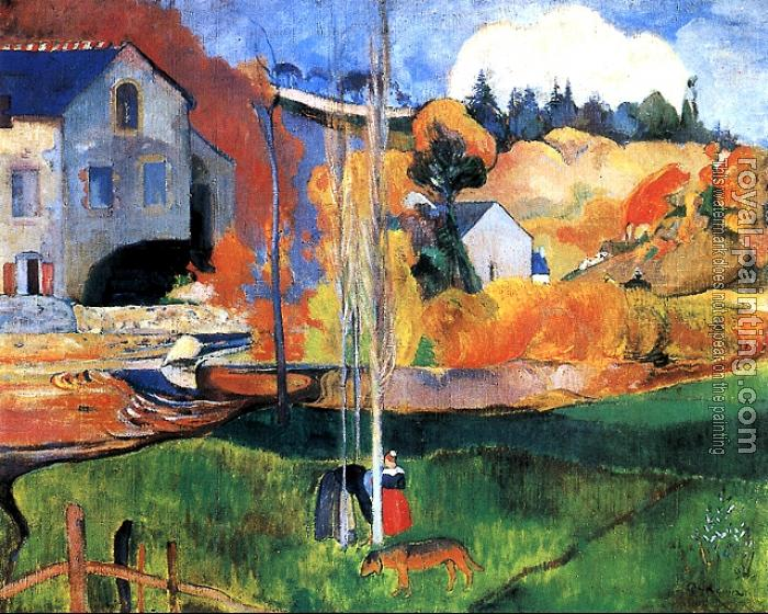 Paul Gauguin : Brittany Landscape: the David Mill