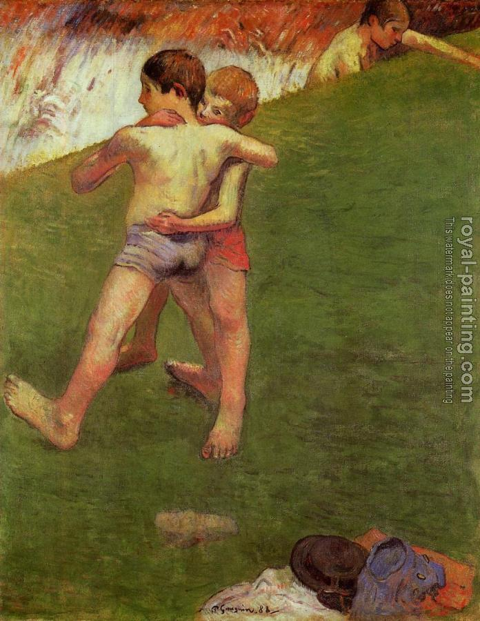 Paul Gauguin : Breton Boys Wrestling