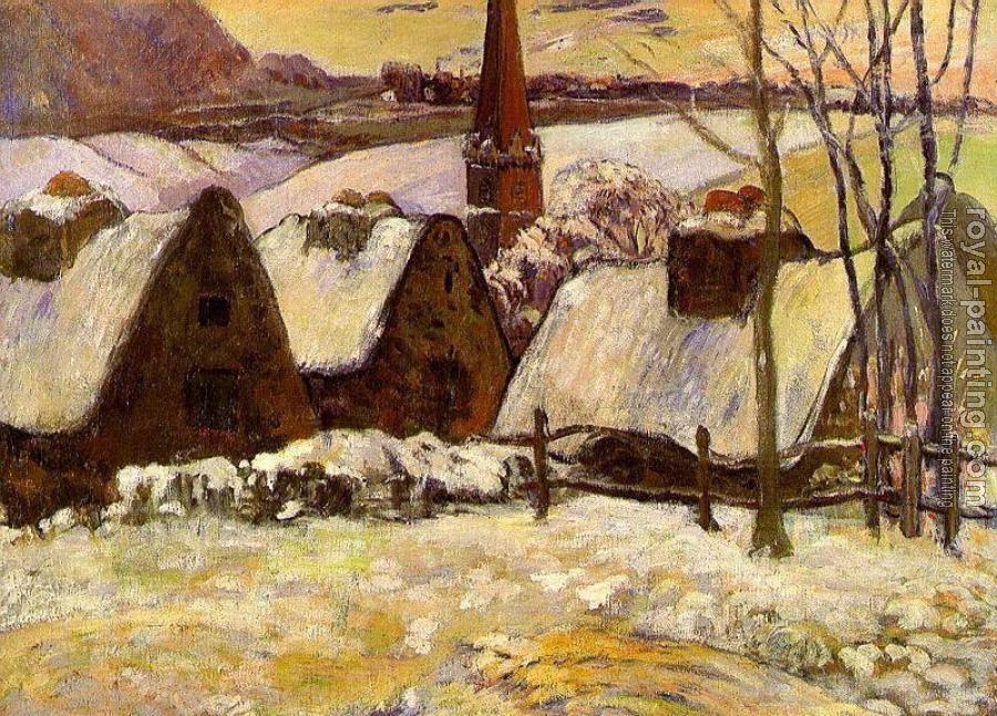 Paul Gauguin : Breton Village in the Snow