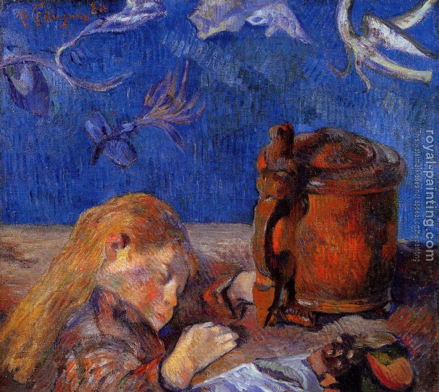 Paul Gauguin : Clovis Gauguin Asleep